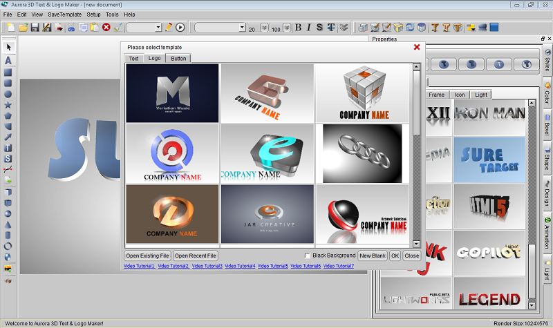 3D Text Logo Creator  Free Online Design Tool