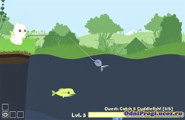 кот ловит рыбу симулятор
